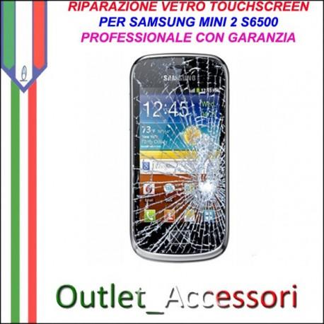 Riparazione Vetro Touch Samsung Galaxy Mini 2 S6500 Cambio Touchscreen Schermo Rotto