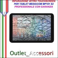 Riparazione Tablet Mediacom Mp101 S2 Sostituzione Cambio Vetro Touch Touchscreen Rotto