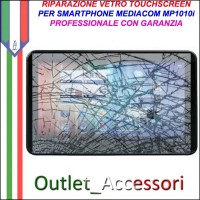 Riparazione Tablet Mediacom Mp1010i Sostituzione Cambio Vetro Touch Touchscreen Rotto