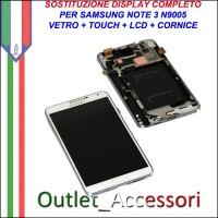 Sostituzione Riparazione Display Samsung Note 3 N9005 Cambio Assemblaggio Display Vetro Cornice Schermo Rotto