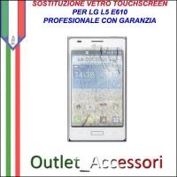 Riparazione Vetro Touch LG E610 Optimus L5 Cambio Touchscreen Schermo Rotto