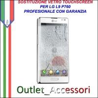 Riparazione Vetro Touch LG P760 Optimus L9 Cambio Touchscreen Schermo Rotto
