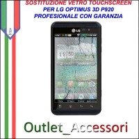 Riparazione Vetro Touch LG P920 Optimus 3D Cambio Touchscreen Schermo Rotto