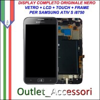 Sostituzione Riparazione Display Samsung Ativ S I8750 Cambio Assemblaggio Vetro Cornice Schermo Rotto