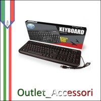 Tastiera Keyboard Multimediale USB 2.0 KEY-613M Vultech per PC Desktop Computer