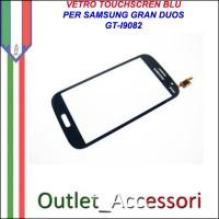 Vetro Touch Screen Samsung Gran Duos I9082 Blu Ricambio Schermo Touchscreen