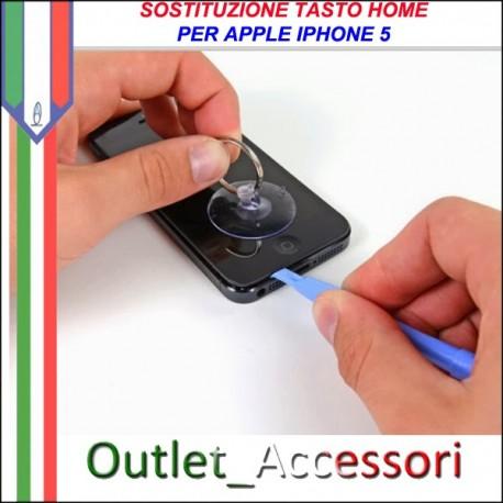Sostituzione Tasto Home Apple Iphone 5 5g Pulsante Riparazione Assistenza