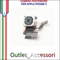Camera Fotocamera Posteriore Retro Apple Iphone 5 5g Flash