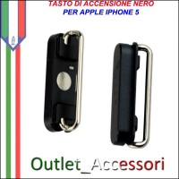 Tasto Pulsante Apple Iphone 5 Power Accensione Nero