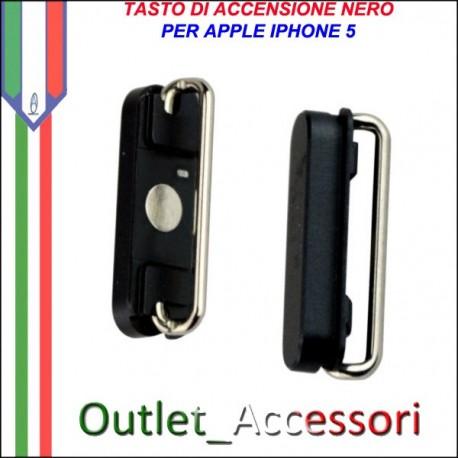 Tasto Pulsante Apple Iphone 5 Power Accensione Nero