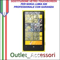 Riparazione Vetro Touch Nokia Lumia 920 Sostituzione Cambio Screen Schermo Rotto