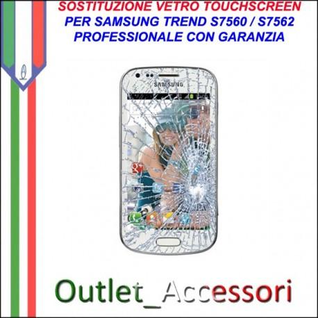 Riparazione Vetro Touch Samsung Trend s7560 Cambio Touchscreen Schermo Rotto