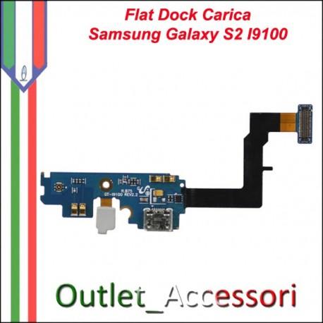 Flat Flex Cavo Ricambio Originale Connettore Carica per Samsung Galaxy S2 SII I9100 GT-I9100