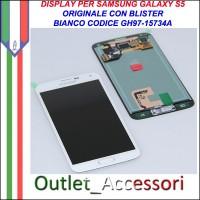 Display Lcd Schermo Samsung Galaxy S5 G900 G900F Bianco White Ricambio Originale