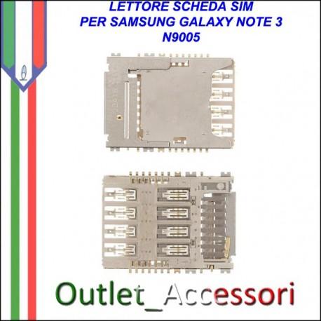 Flat Lettore Scheda Pista Sim Samsung Galaxy Note 3 N9005