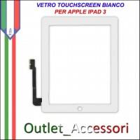 Touchscreen Touch Vetro Schermo Ricambio Originale per Apple Nuovo Ipad 3 BIANCO