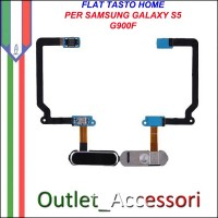 Flat Flex Tasto Home Pulsante per Samsung Galaxy S5 G900F ORIGINALE
