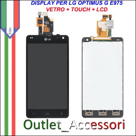 Display Lcd Vetro Touchscreen LG Optimus G E975 Schermo Originale