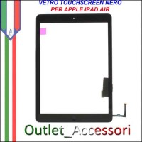 Vetro Touch Touchscreen per Apple Ipad Air Schermo Ricambio Nero Black