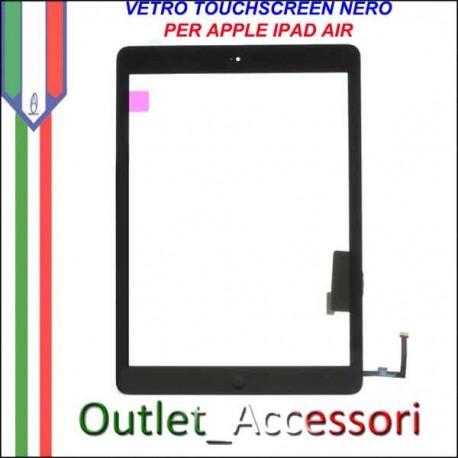 Vetro Touch Touchscreen per Apple Ipad Air Schermo Ricambio Nero Black