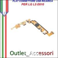 Flat Connettore USB Ricarica LG L5 E610 Microfono Ricambio Originale