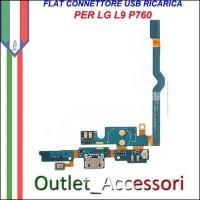 Flat Connettore USB Ricarica LG L9 P760 Home Microfono Ricambio Originale
