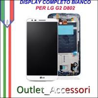 Display LG Optimus G2 D802 Bianco Vetro Touch Lcd Frame Schermo Originale