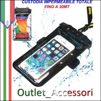 Custodia Cover Borsa Impermeabile Subacquea per Cellulari Smartphone Samsung Apple Nokia