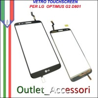 Vetro Touch Touchscreen Screen Schermo per LG G2 D801 Optimus