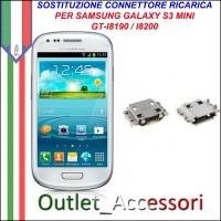 Sostituzione Riparazione Saldatura Porta Connettore Jack Usb Carica Ricarica per Samsung Galaxy S3 Mini I8190