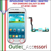 Riparazione per Samsung Galaxy S3 Mini Tasti Menu Pulsanti Selezione flat I8190 i8200