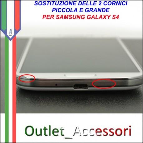 Sostituzione 2 Cornici Scocca Piccola Grande per Samsung Galaxy S4 i9505 Frame