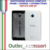 Sostituzione Cambio Scocca Cornice Copribatteria HTC ONE M7 H1 Housing