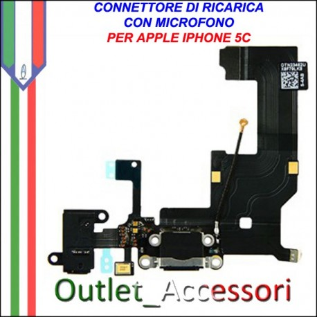 Connettore Flat Carica Ricarica Microfono Apple Iphone 5c