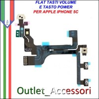 Connettore Flat Power Accensione Volume per Apple Iphone 5c