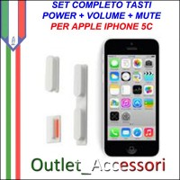 Kit Tasti Volume Accensione Mute Pulsanti per Apple Iphone 5c