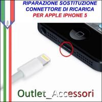 Sostituzione Connettore Flat Carica Ricarica Apple Iphone 5 5g Pulsante Riparazione Assistenza