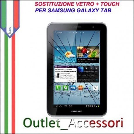 Riparazione Samsung Galaxy Tab 3 7'' WIFI T210 SM Sostituzione Cambio Vetro Touch Touchscreen Rotto