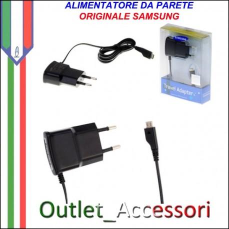 Caricabatterie Alimentatore con Presa Originale Samsung Micro usb ETAOU10EBE Travel Adapter