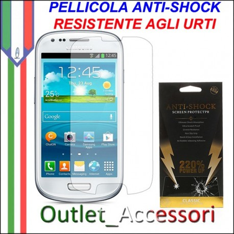 Pellicola Schermo Anti-Shock Resistente Urti per Samsung Galaxy S3 Mini BUFF Ultimate