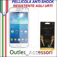 Pellicola Schermo Anti-Shock Resistente Urti per Samsung Galaxy S4 Mini BUFF Ultimate