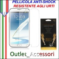 Pellicola Schermo Anti-Shock Resistente Urti per Samsung Galaxy NOTE 2 BUFF Ultimate