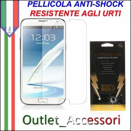Pellicola Schermo Anti-Shock Resistente Urti per Samsung Galaxy NOTE 2 BUFF Ultimate