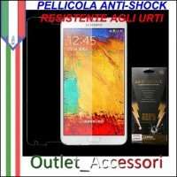 Pellicola Schermo Anti-Shock Resistente Urti per Samsung Galaxy NOTE 3 BUFF Ultimate