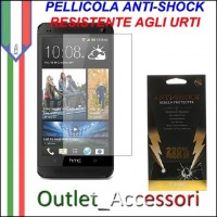 Pellicola Schermo Anti-Shock Resistente Urti per HTC ONE M7 BUFF Ultimate