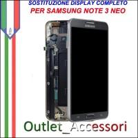 Sostituzione Riparazione Display Samsung Note 3 NEO SM-N7505 Cambio Assemblaggio Display Vetro Cornice Schermo Rotto
