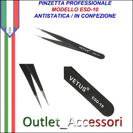 Pinza Pinzetta Professionale AntiStatica Veus ESD10 ESD 10