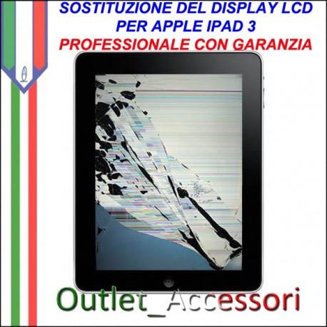 Sostituzione Riparazione Cambio Display LCD Rotto per Apple NUOVO Ipad 3