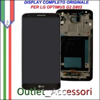 Display LG Optimus Nero Black G2 D802 Vetro Touch Lcd Frame Schermo Originale