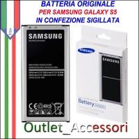 Batteria Pila Originale Samsung Galaxy S5 G900 G900F EB-BG900 IN BLISTER